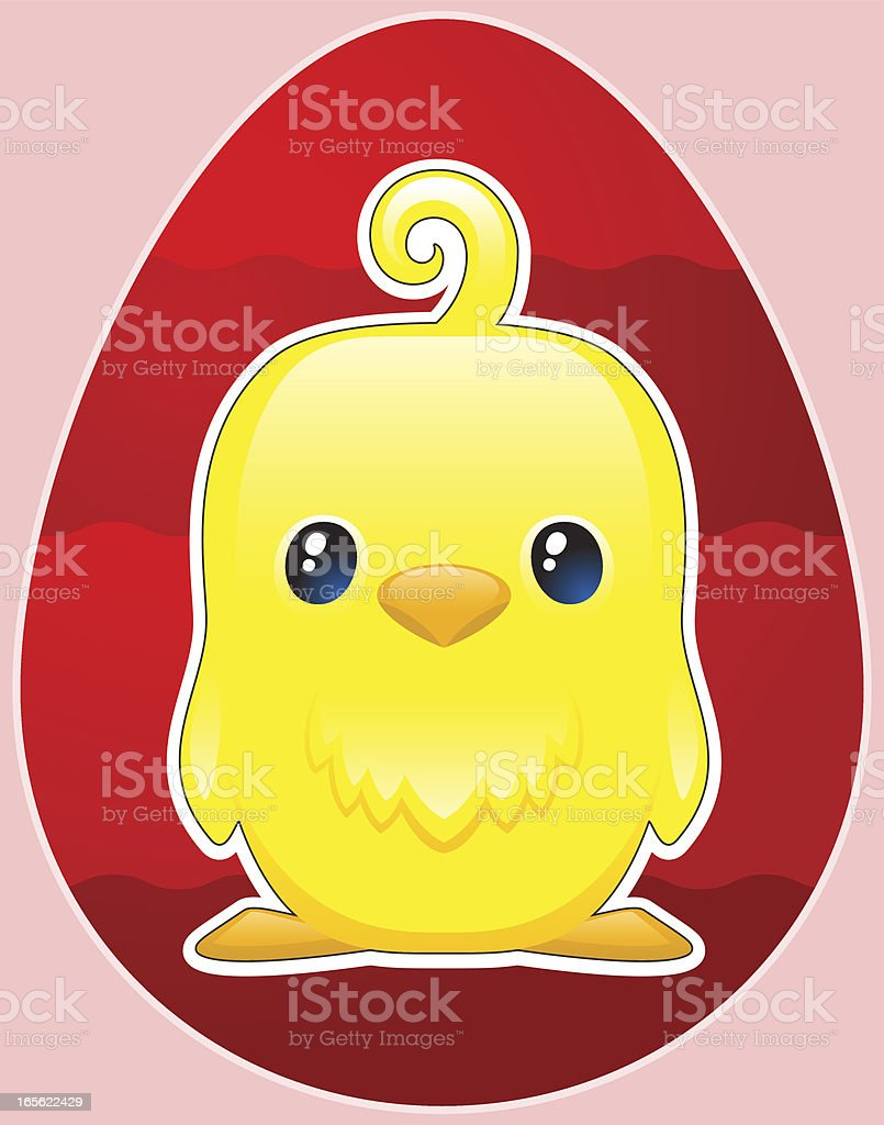 Cute easter chick royalty-free stock vector art