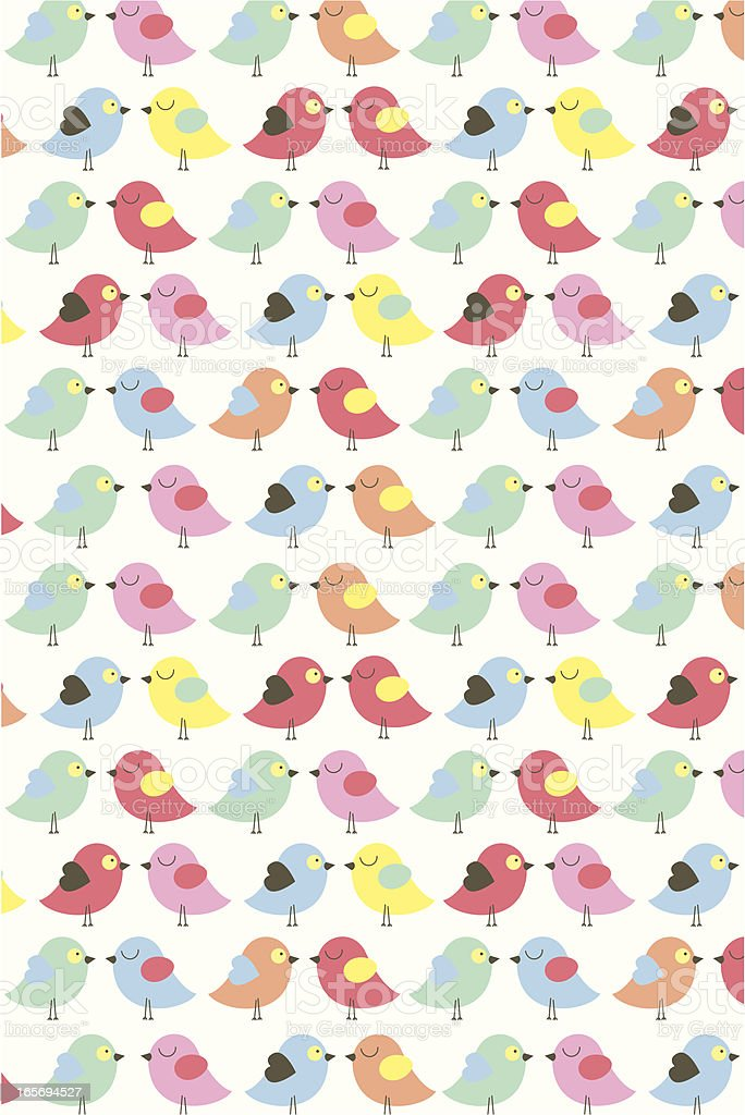 Cute Easter Mini Chick Pattern vector art illustration