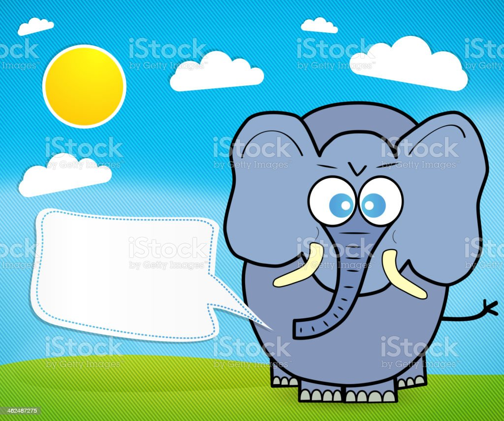Cute elephant cartoon royalty-free stock vector art