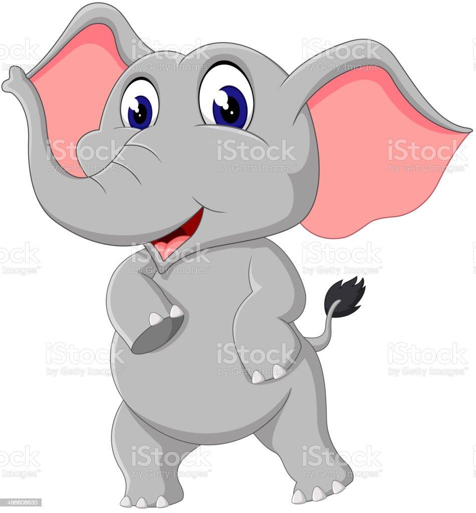 cute elephant cartoon stock vector art 496606630 istock