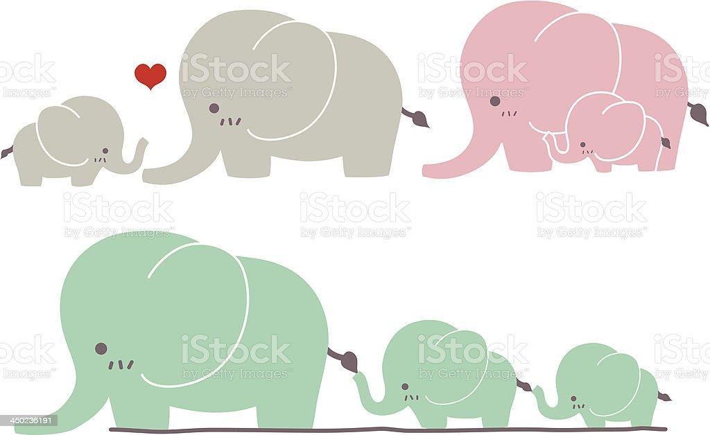 Cute Elephant - Vector File EPS10 vector art illustration