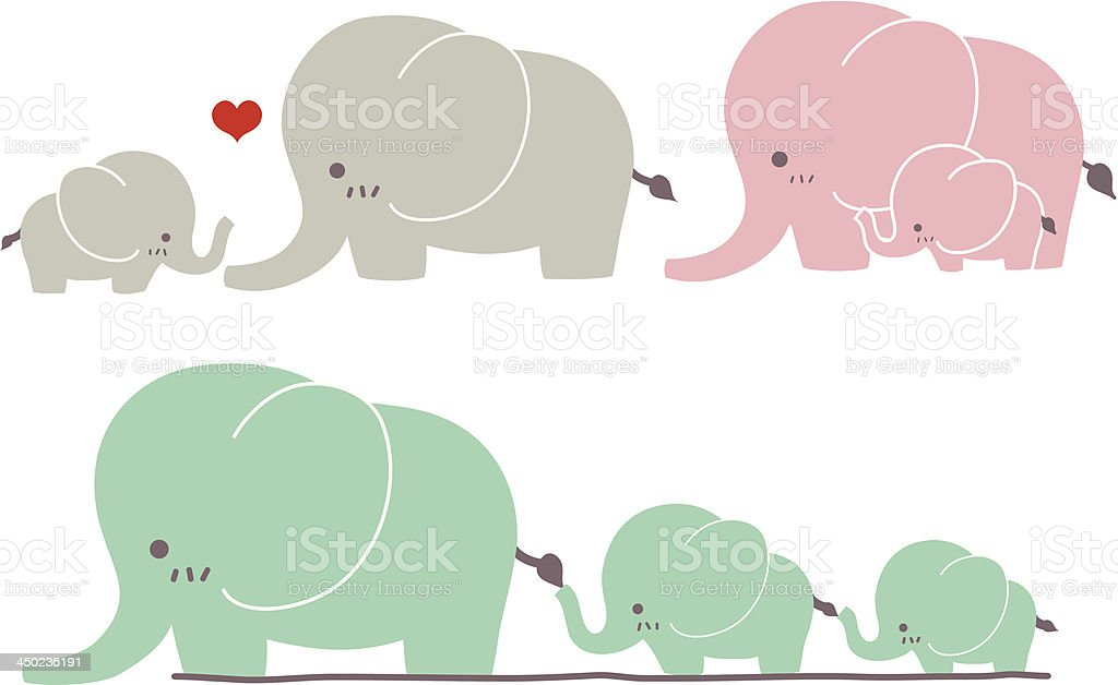 Cute Elephant - Vector File EPS10 vector art illustration