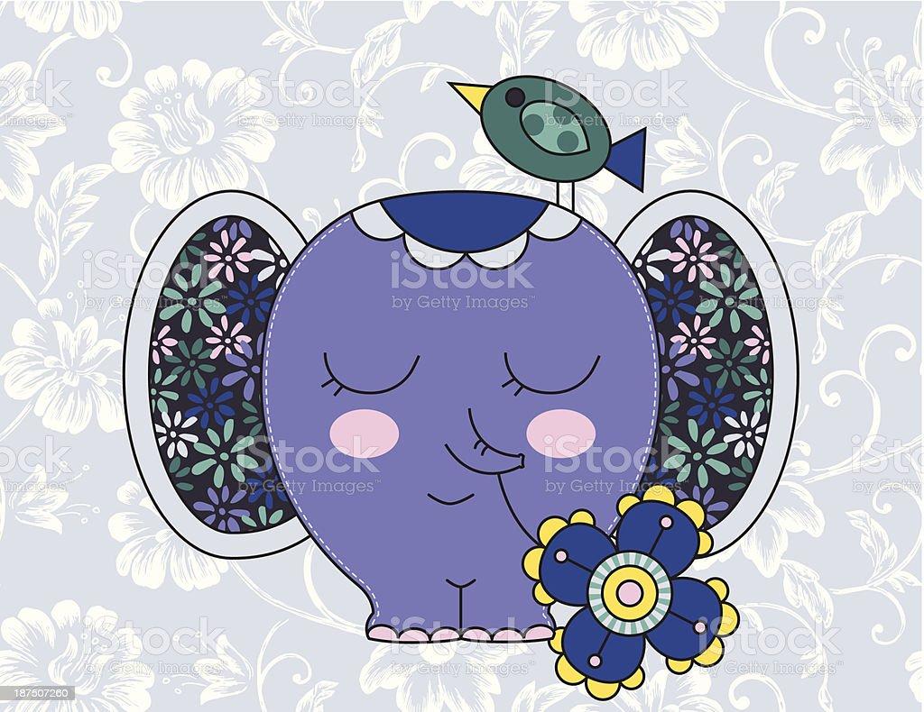 Cute elephant royalty-free stock vector art