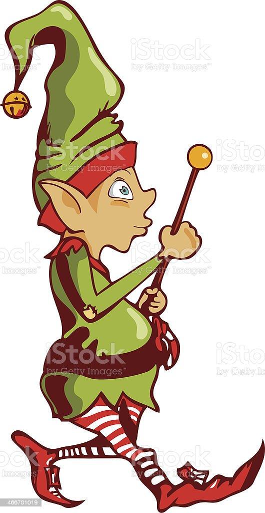 Cute Elf royalty-free stock vector art