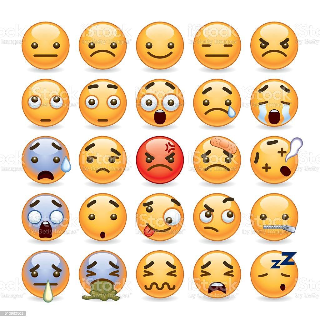 cute emoji vector art illustration
