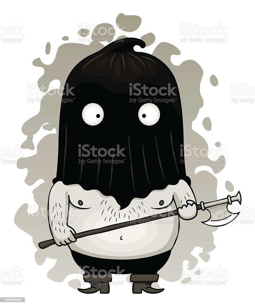 Cute executioner vector art illustration