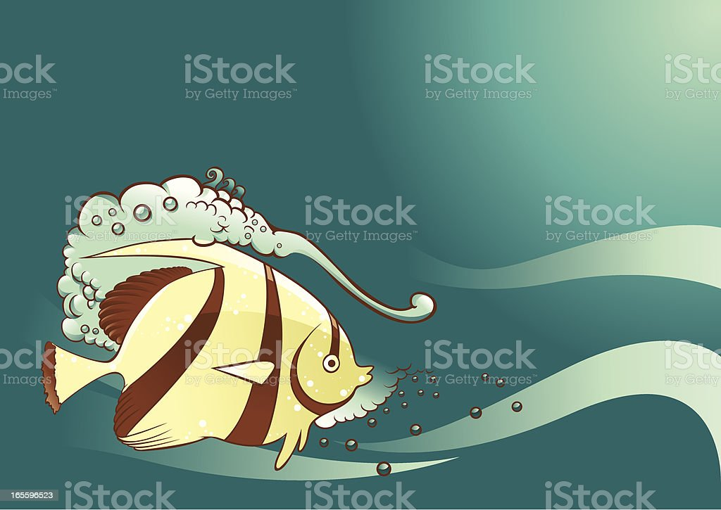 Cute fish royalty-free stock vector art