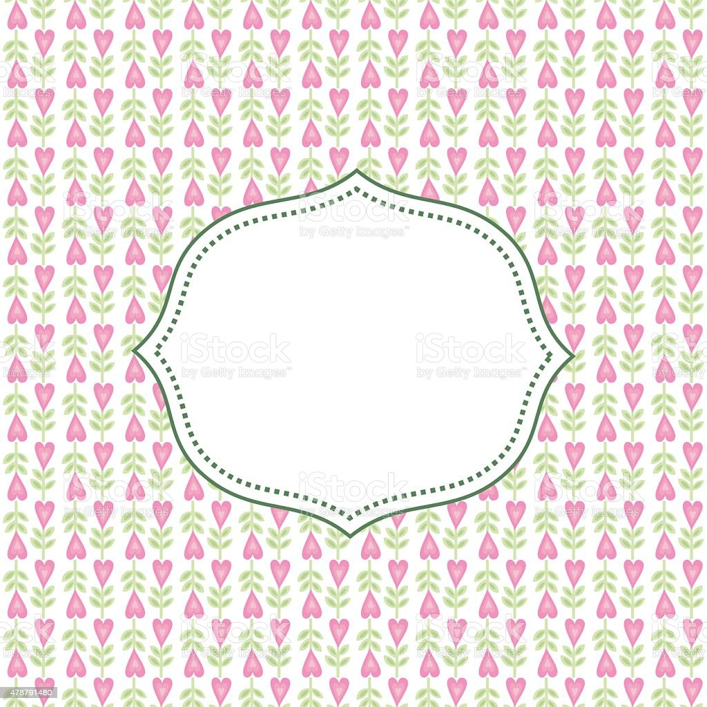 Cute floral background. Flower vector card with space for text vector art illustration