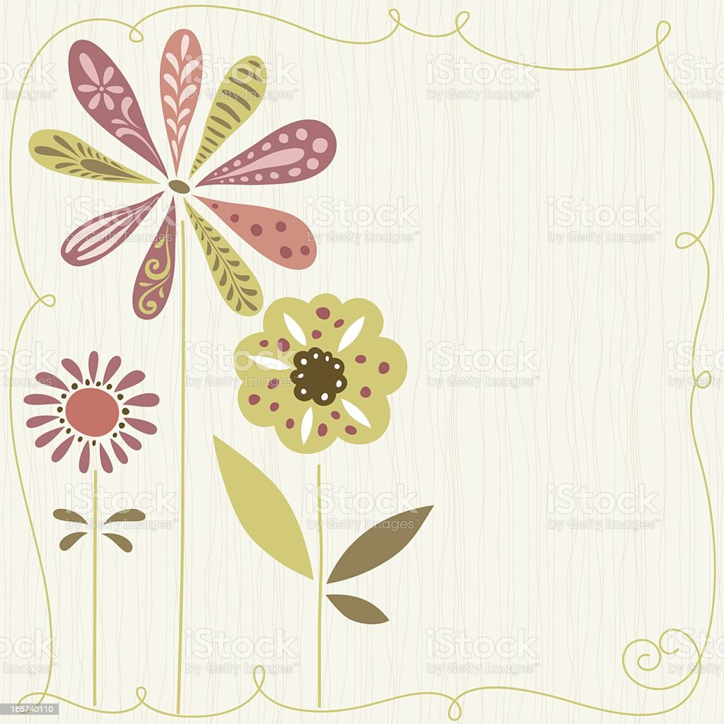 Cute Flowers Design royalty-free stock vector art