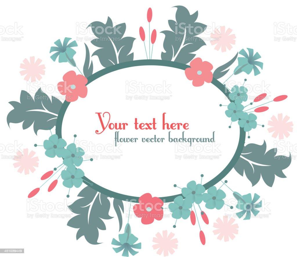 cute frame design with cartoon flowers. royalty-free stock vector art