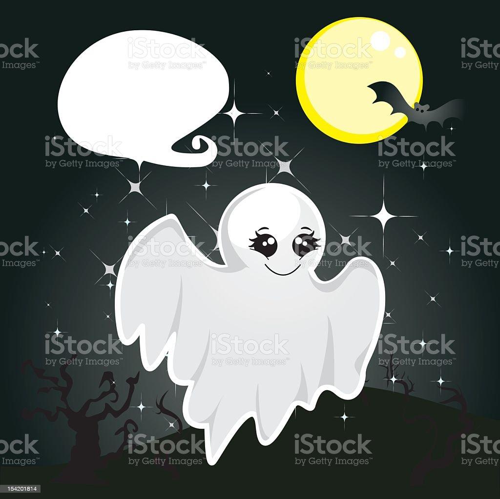 Mignon fantôme stock vecteur libres de droits libre de droits