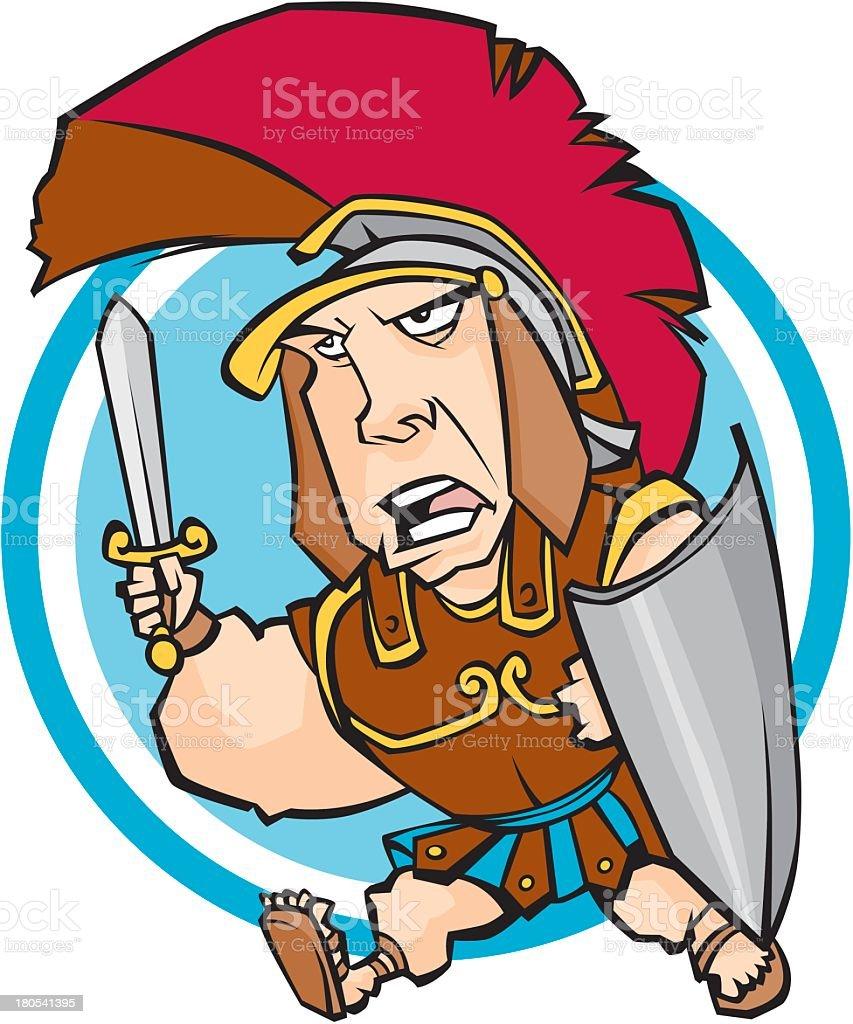 Cute Gladiator royalty-free stock vector art