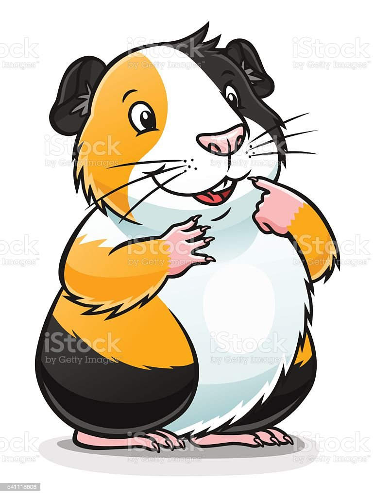 Cute guinea pig stock vector art 541118608 istock for Guinea pig pictures free