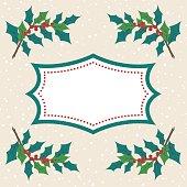 Cute Hand Drawn Seasonal Christmas Background