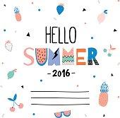 Cute Hello Summer Poster