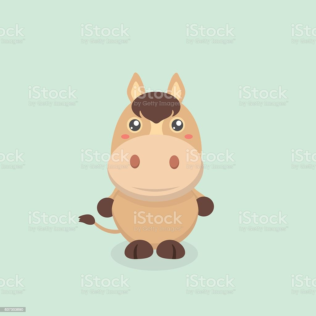 Cute horse. vector art illustration