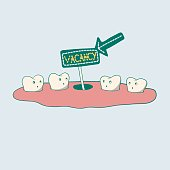 Cute Illustration of removal of a tooth