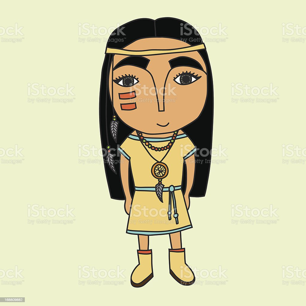 Cute indian girl royalty-free stock vector art