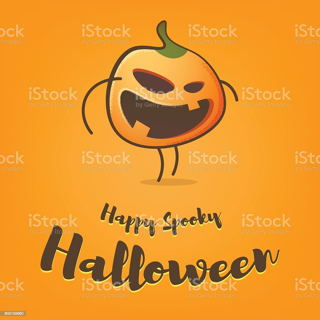 Cute Jack O Lantern vector art illustration