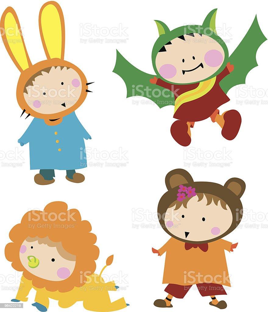 Cute Kid Costume royalty-free stock vector art