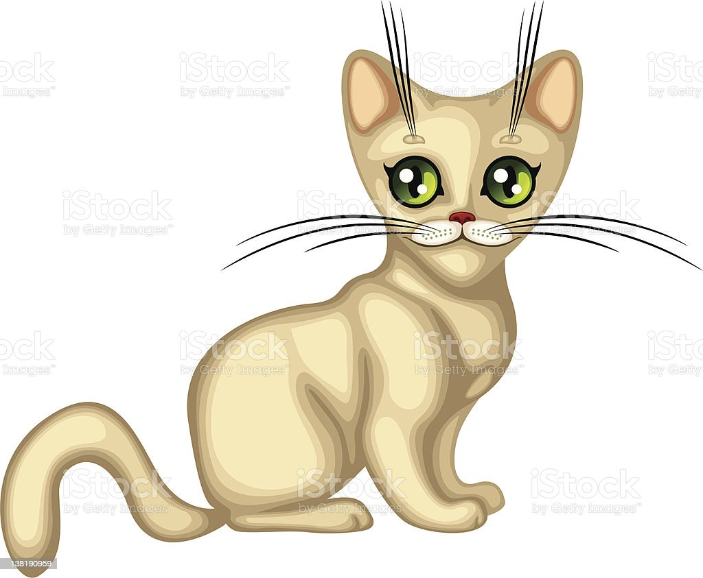 Cute kitten royalty-free stock vector art