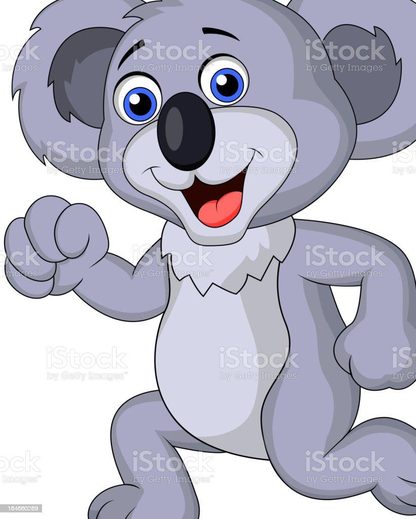 Cute koala cartoon running royalty-free stock vector art
