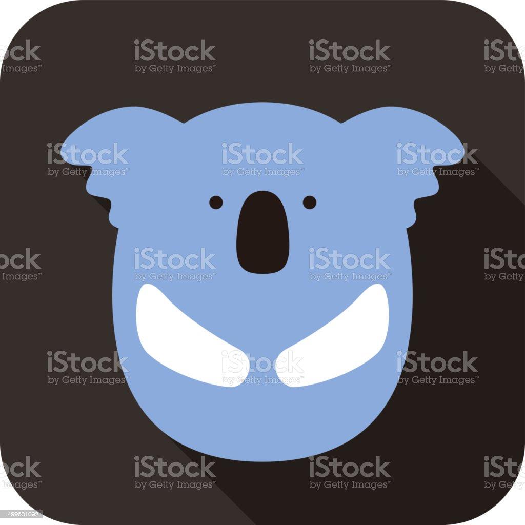 cute koala face and body flat design, vector vector art illustration