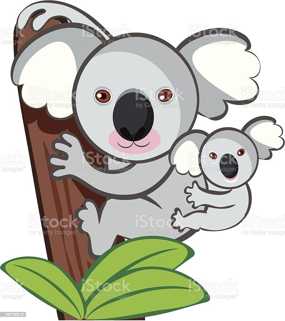 Cute kuala royalty-free stock vector art