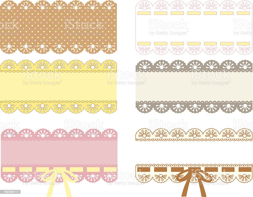 Cute Lace Pattern royalty-free stock vector art