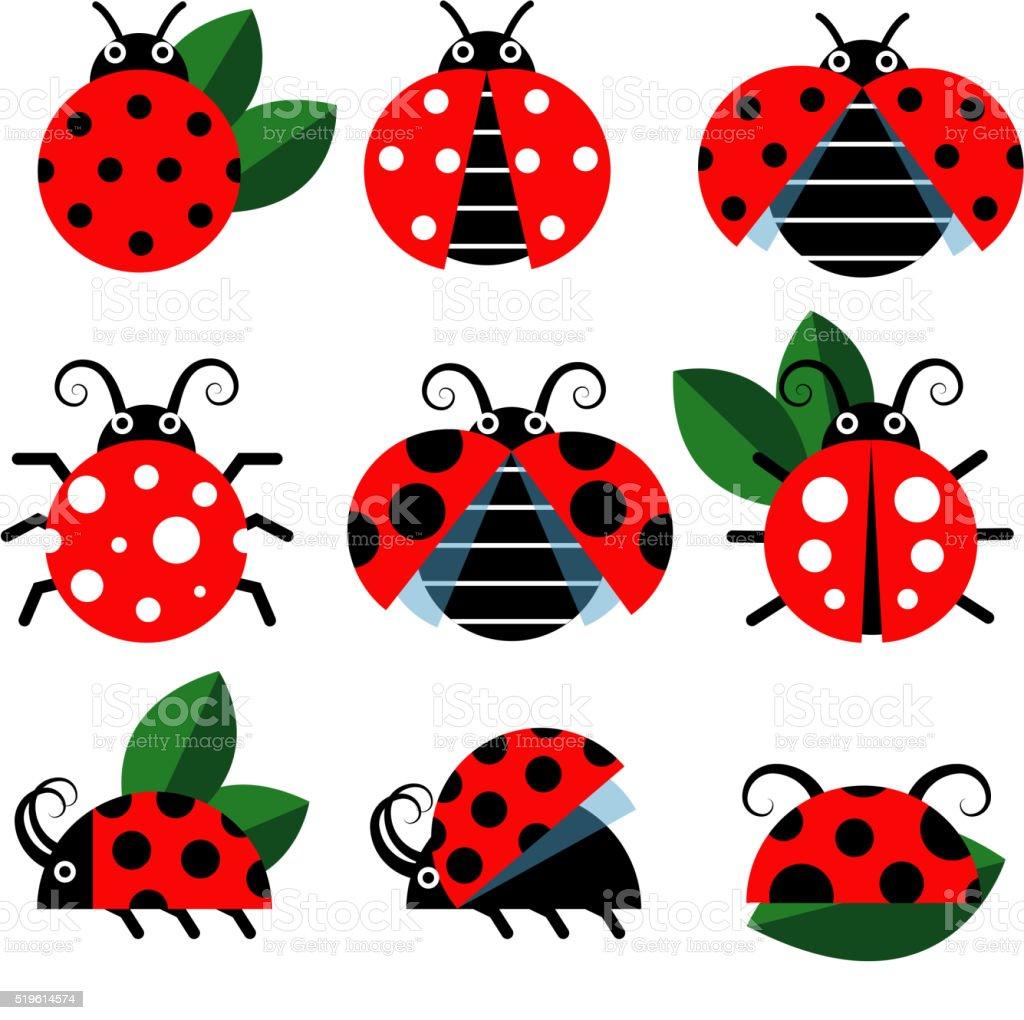 Cute ladybug vector vector art illustration