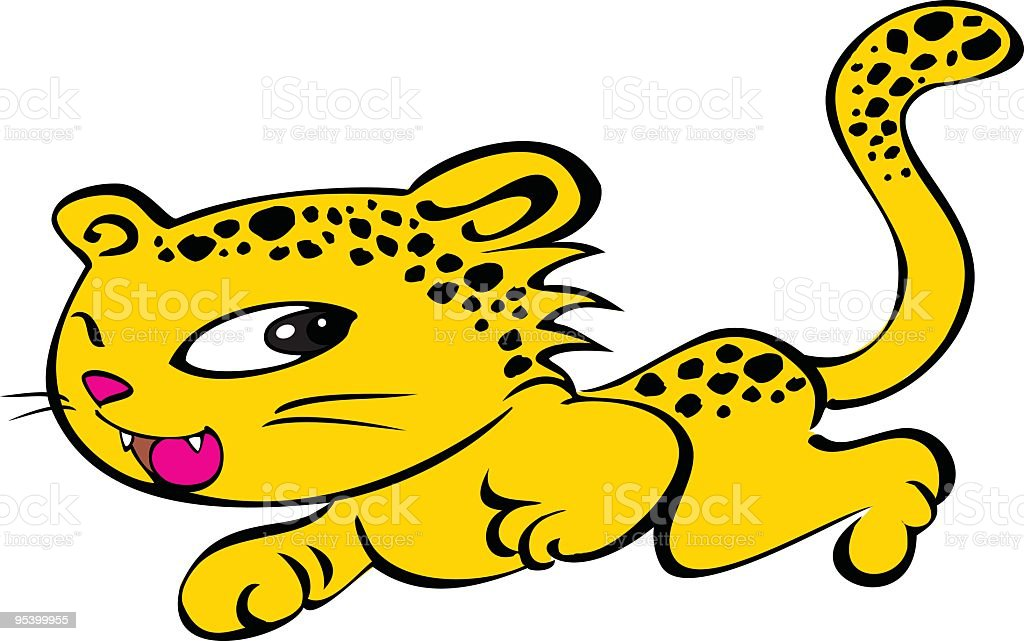 Cute Leopard Vector royalty-free stock vector art