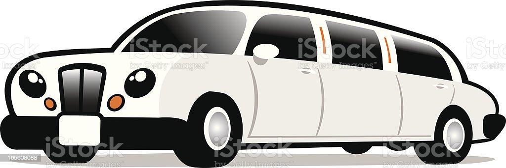 cute limousine vector art illustration