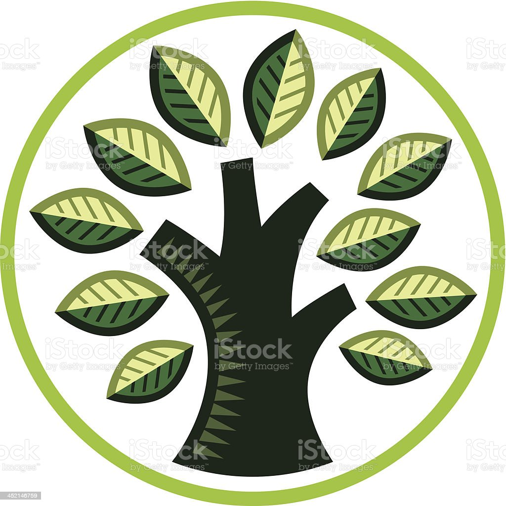 Cute litte tree royalty-free stock vector art