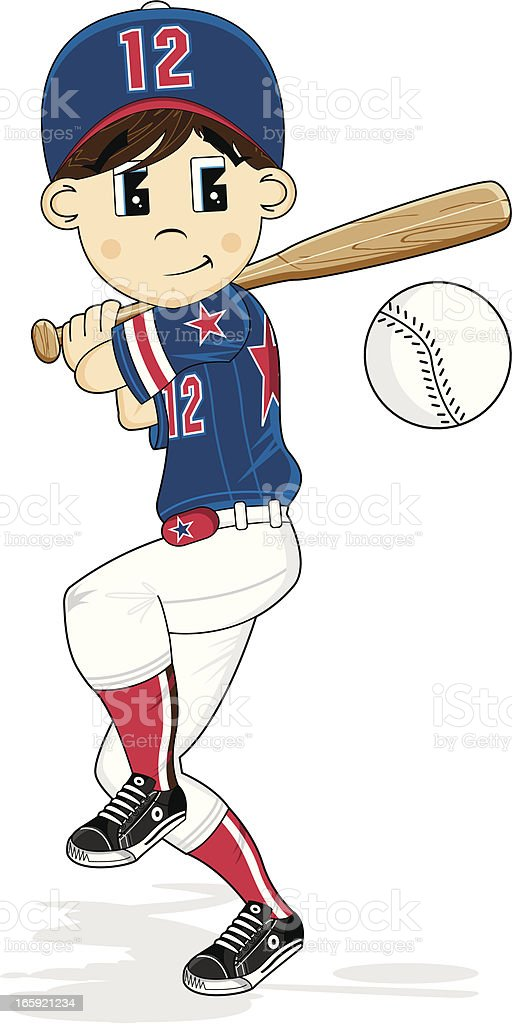 Cute Little Baseball Boy royalty-free stock vector art