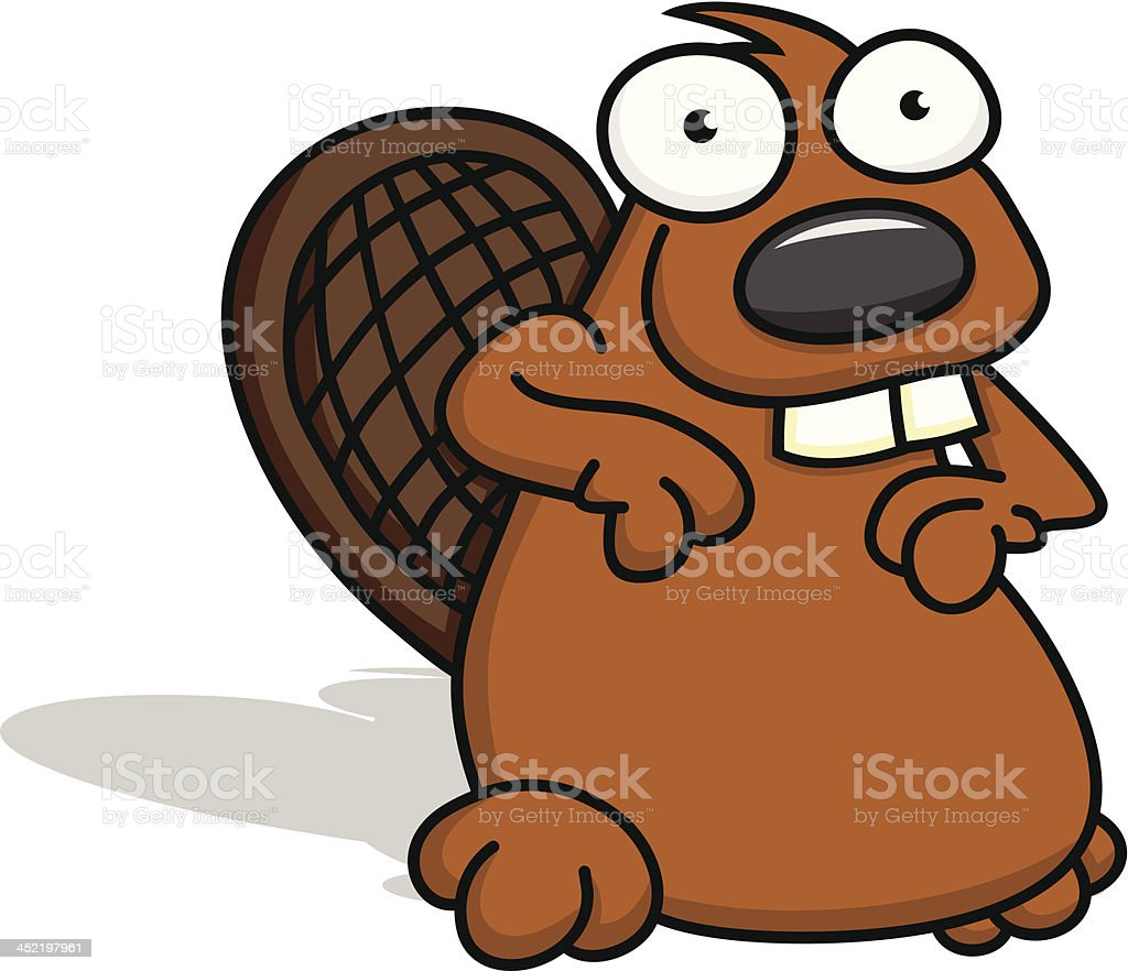 Cute Little Beaver royalty-free stock vector art
