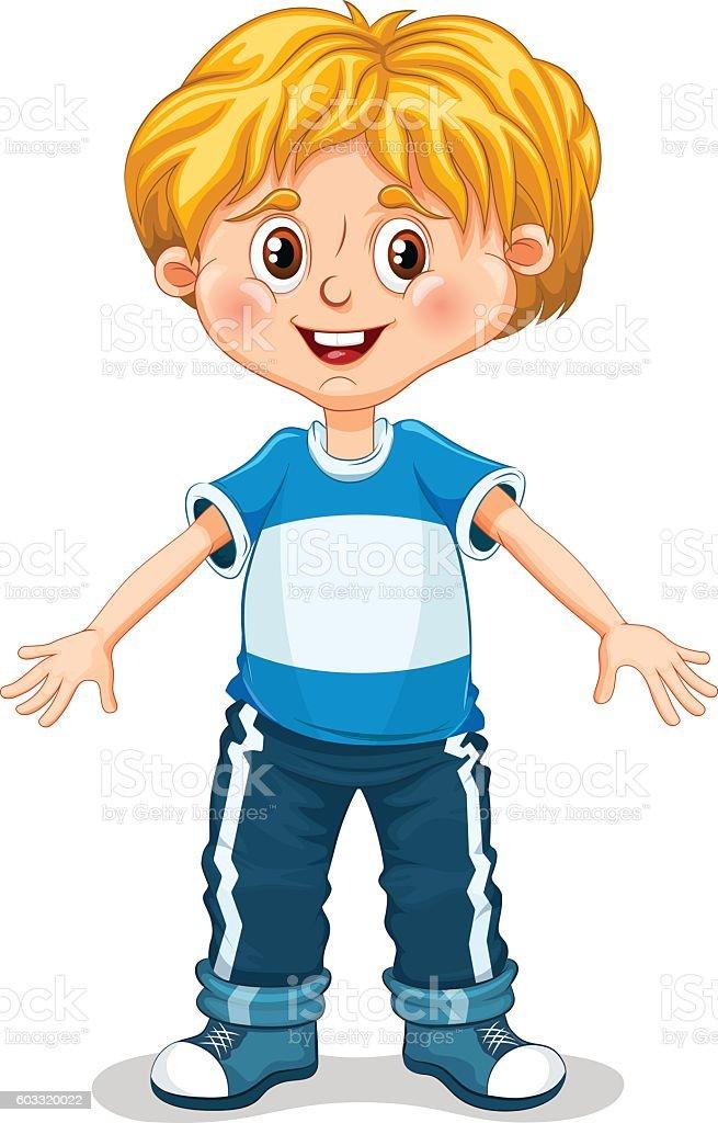 Cute Little Boy Vector Illustration stock vector art