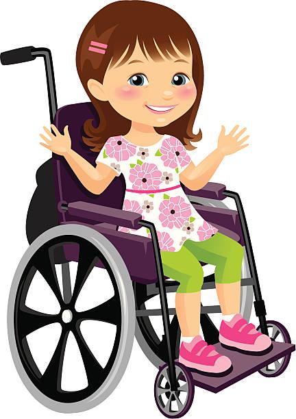 Wheelchair Girls Clip Art, Vector Images & Illustrations