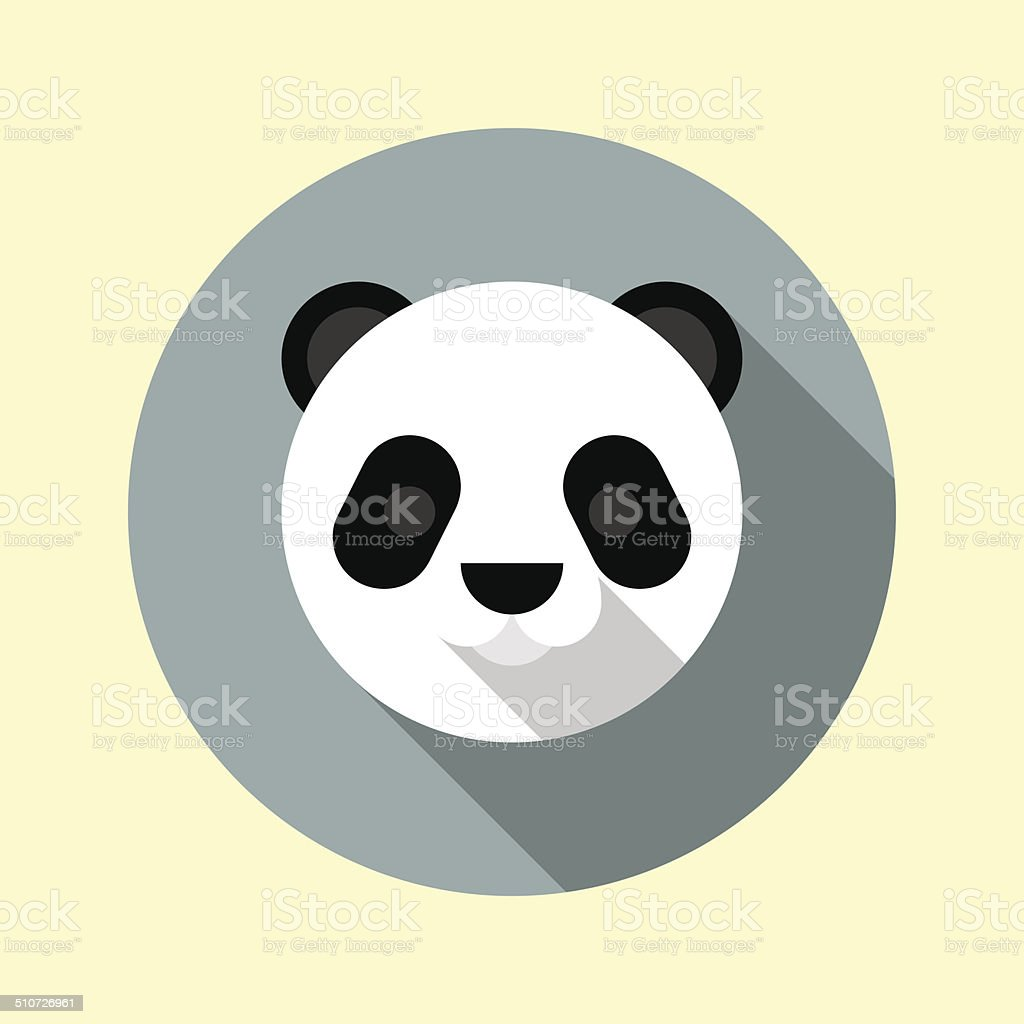 Cute little panda icon. Animal icons series. vector art illustration