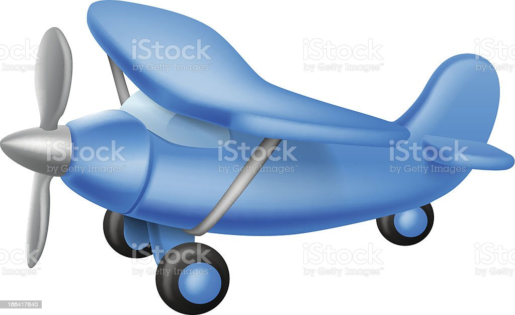 Cute little plane royalty-free stock vector art