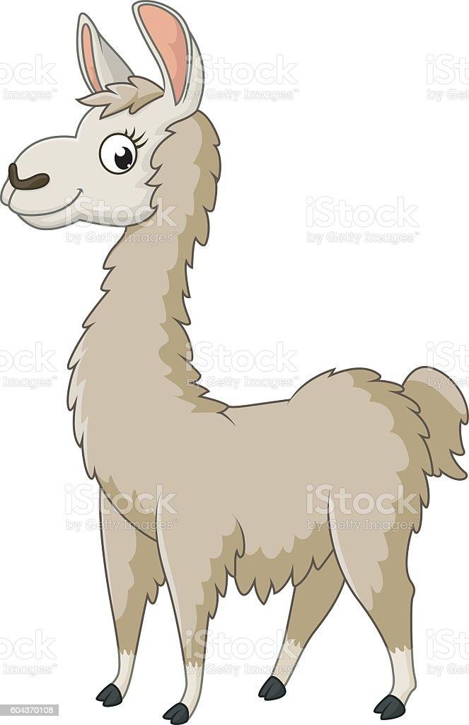 cute llama cartoon stock vector art 604370108 istock lama clip art llama clipart font