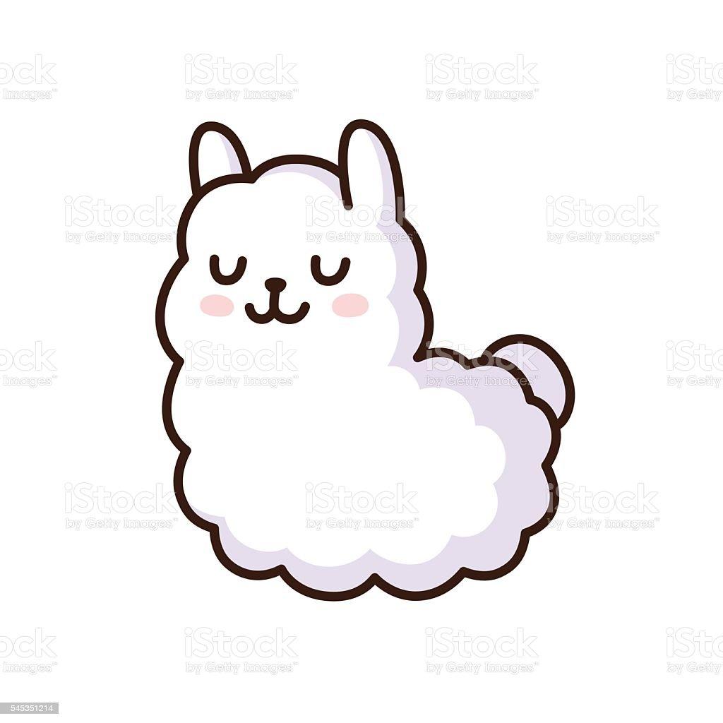 kawaii clip art  vector images   illustrations istock alpaca clipart black and white alpaca clip art silhouette