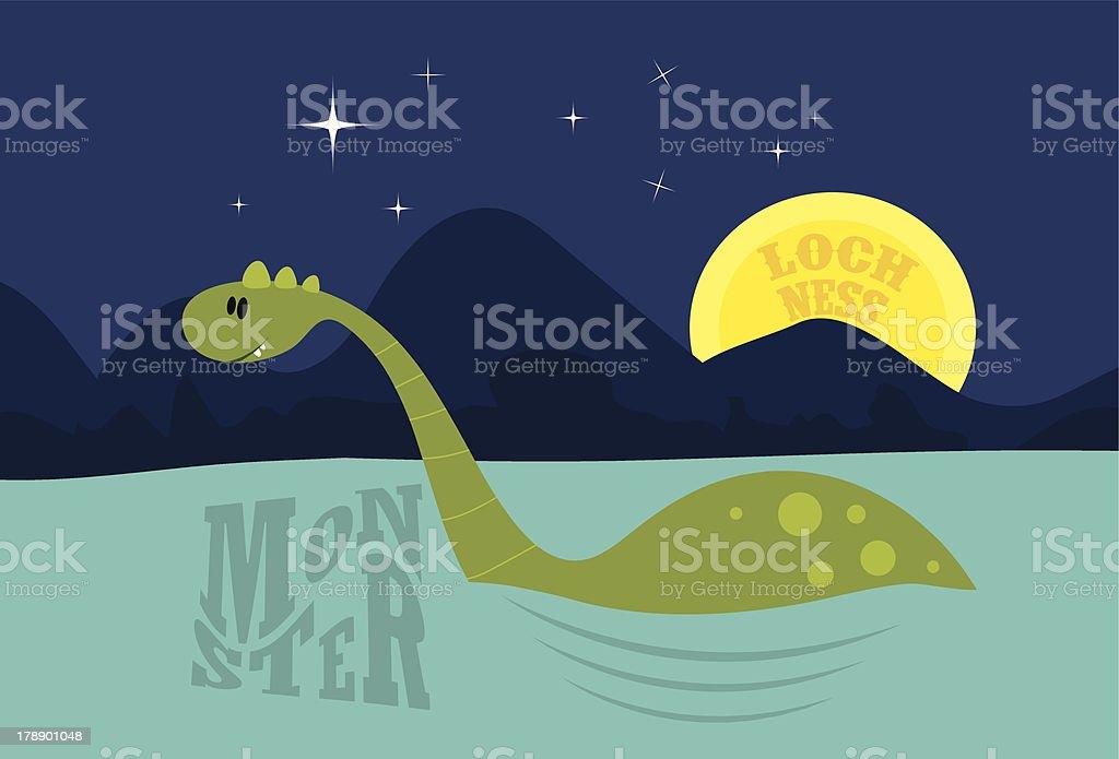 Cute Loch Ness Monster royalty-free stock vector art