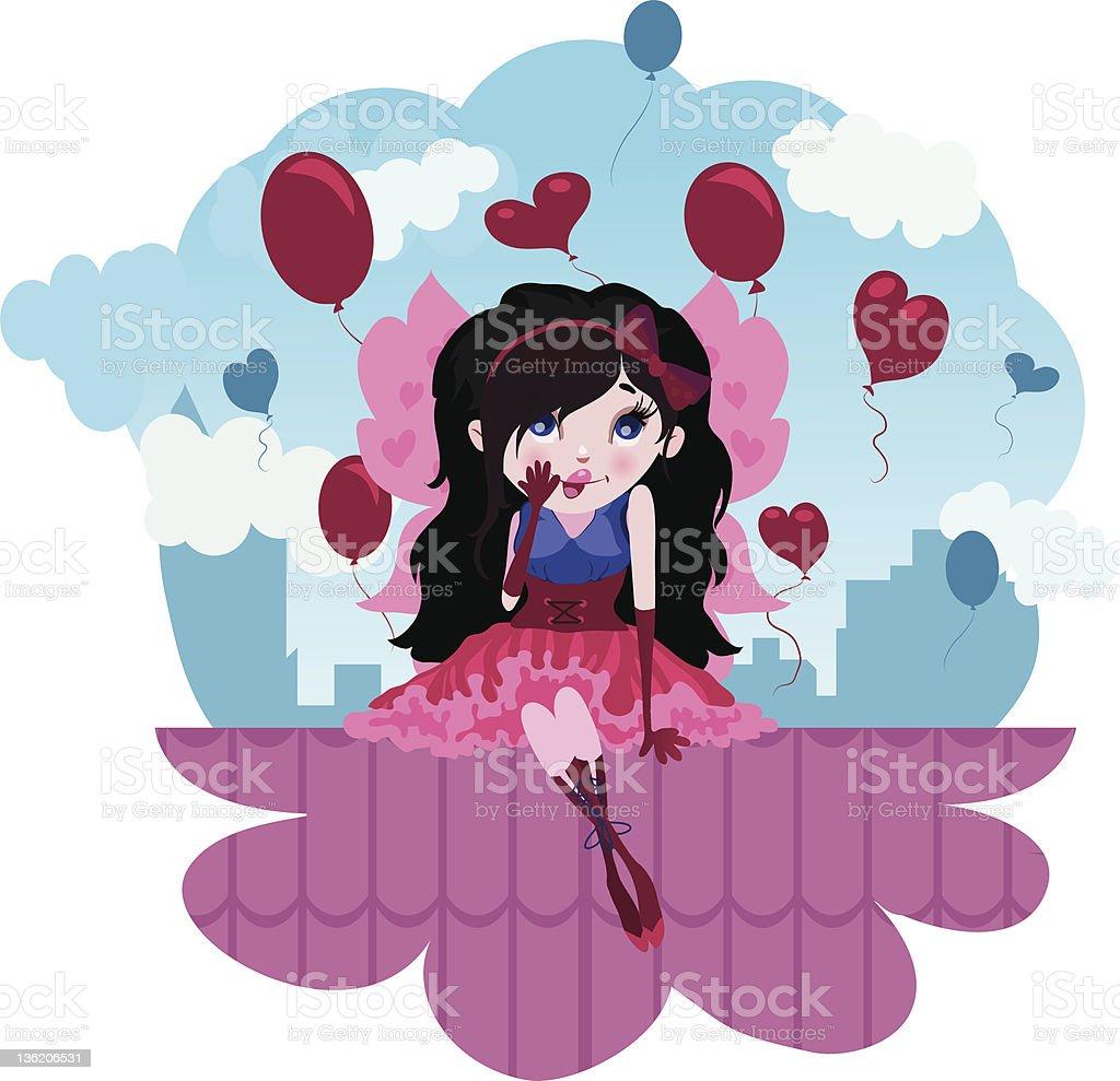 Cute Love Fairy cartoon vector vector art illustration