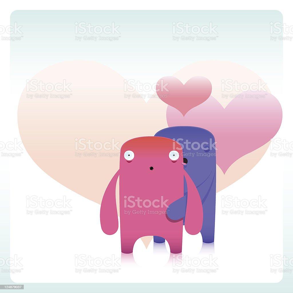 Cute Loving Pervert Characters royalty-free stock vector art