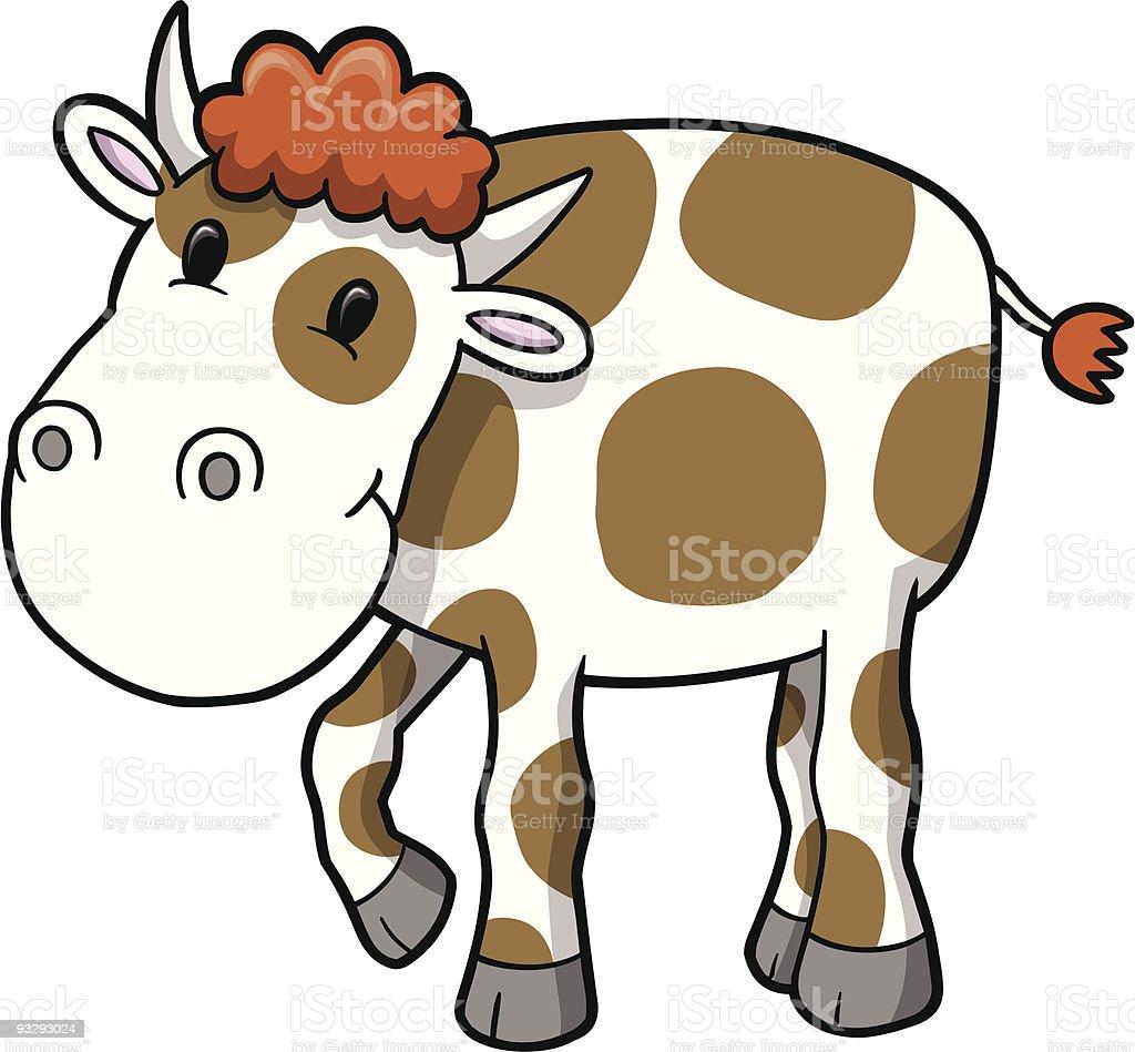 Cute Milk Cow royalty-free stock vector art