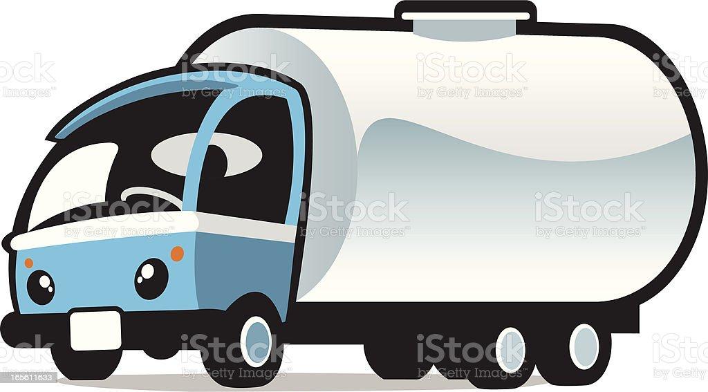 cute milk truck vector art illustration