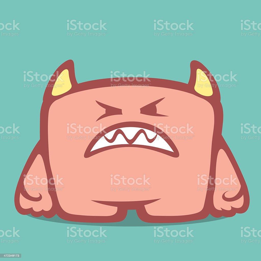 Cute Monster - Eighth royalty-free stock vector art
