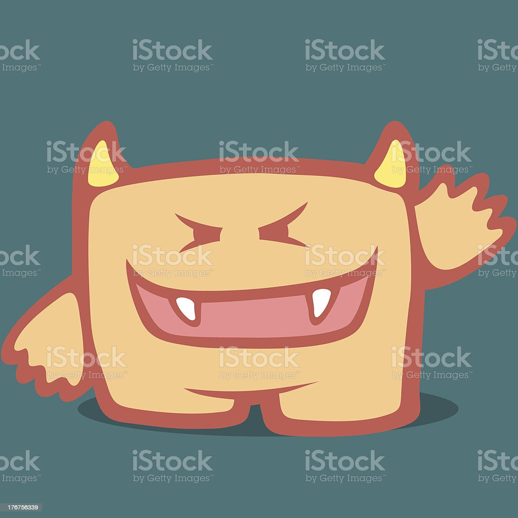 Cute Monster - Sixth royalty-free stock vector art
