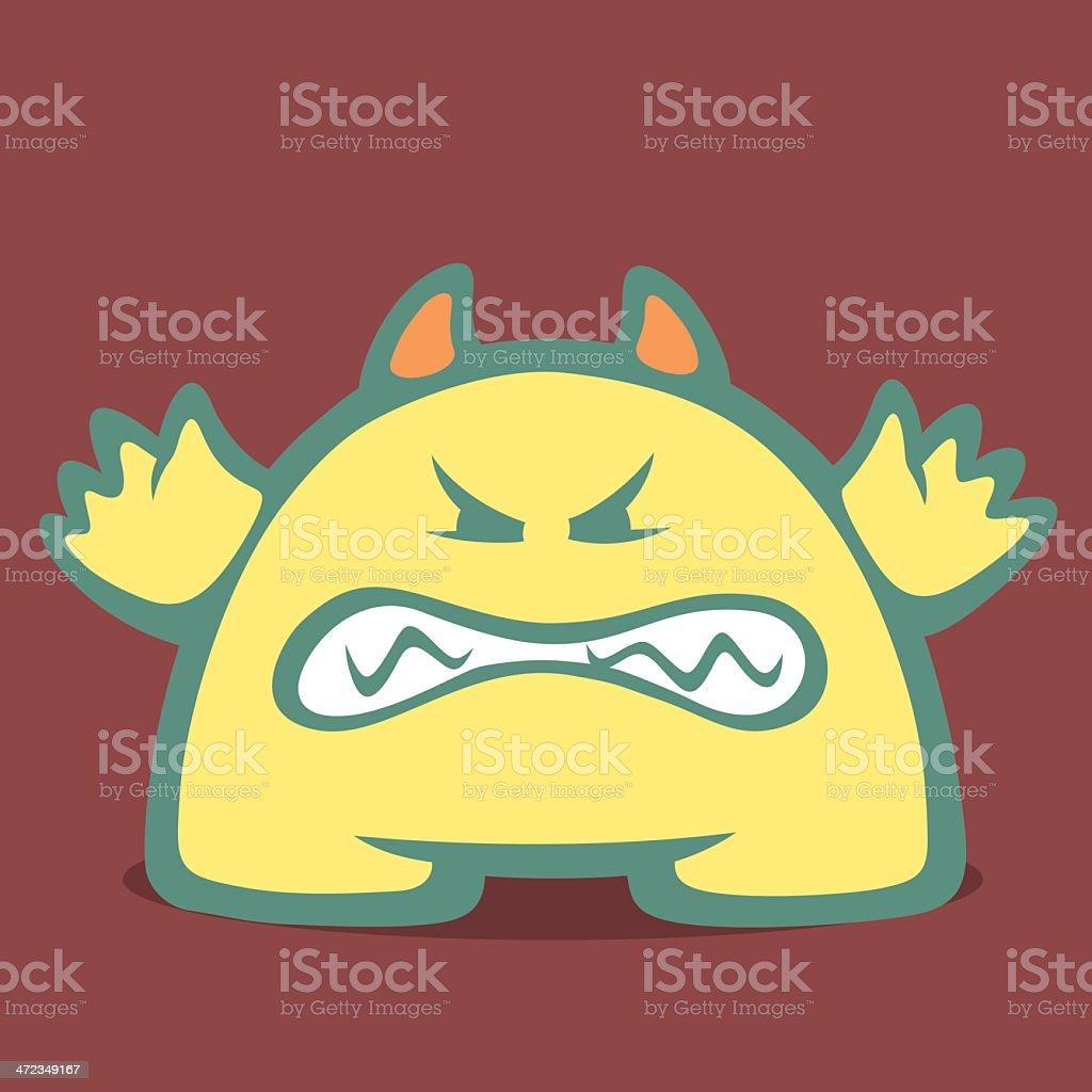 Cute Monster - Third royalty-free stock vector art