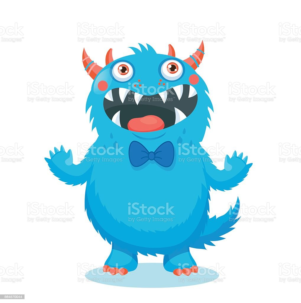 Cute Monster Vector. Cartoon Monster Mascot. vector art illustration